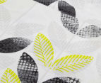 Belmondo Leaves Queen Quilt Cover Set - Black/Lime/White 2