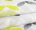 Belmondo Leaves Queen Quilt Cover Set - Black/Lime/White 3