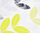 Belmondo Leaves King Bed Cover Set - Black/Lime/White 4