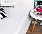 Waterproof Single Quilted Mattress Protector - White 1