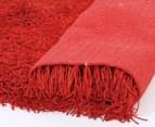 Super Soft 225x155cm Shag Rug - Red 3