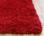 Soft & Plush Matte 400x80cm Shag Runner - Rouge 2
