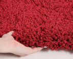 Soft & Plush Matte 400x80cm Shag Runner - Rouge 4