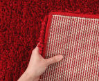 Soft & Plush Matte 400x80cm Shag Runner - Rouge 5