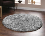 Super Soft Metallic 120cm Shag Rug - Winter Grey 2