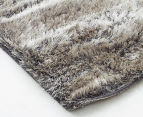 Super Soft Metallic 85x55cm Shag Rug 3-Pack - Granite 2