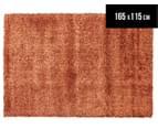 Classic Block Colour 165x115cm Shag Rug - Rusty 1