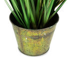 Artificial 80cm Bamboo in Metal Pot - Green 4