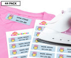 Personalised Iron-On Clothing Labels - 44-Pack 1