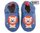 Angel Fit Baby Lion Shoes - Blue 1