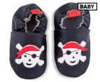 Angel Fit Baby Pirate Shoes - Black 1