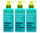 3 x Anatomicals Could We Be Any More Pacific? Body Cleanser Marine 300mL 1