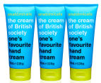 3 x Anatomicals The Cream of British Society Hand Cream White Tea 100mL 1