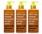3 x Anatomicals 100% Not Chanel Body Cleanser Cocoa 300mL 1