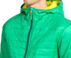 Icebreaker Men's Helix Long Sleeve Merino Hooded Jacket - Lucky/Chartreuse/Bottle 6