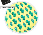 Cooper & Co. 150cm Cactus Round Beach Towel - Yellow/Green/Red 1