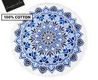 Cooper & Co. 150cm Scarborough Round Beach Towel - Blue/White 1