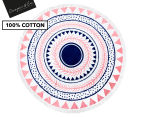 Cooper & Co. 150cm Noosa Round Beach Towel - Pink/Blue 1