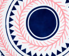Cooper & Co. 150cm Noosa Round Beach Towel - Pink/Blue 3