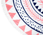 Cooper & Co. 150cm Noosa Round Beach Towel - Pink/Blue 5