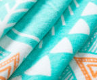 Cooper & Co. 150cm Byron Round Beach Towel - Aqua/Orange/Blue 6