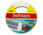 2 x Sellotape 24mm x 50m Masking Tape - Cream 1