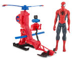 Ultimate Spiderman Titan Hero Series Figure w/ Web Copter 2