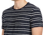 JAG Men's Reverse Slub Stripe Tee - Ink 6