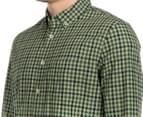 JAG Men's Long Sleeve Even Check Shirt - Khaki 6