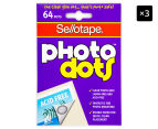 3 x Stellotape Photo Dots - 64-Pack 1