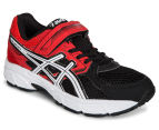 ASICS Pre-School Kids' Pre Contend 3 PS Shoe - Black/White/Vermilion 2
