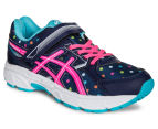 ASICS Pre-School Kids' Pre Contend 3 PS Shoe - Indigo Blue/Pink Glow/Aquarium 2