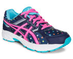 ASICS Grade School Kids' GEL-Contend 3 GS Shoe - Indigo Blue/Pink Glow/Aquarium 2