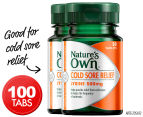 2 x Nature's Own Cold Sore Relief 50 Tabs 1
