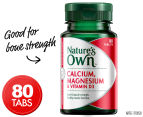 Nature's Own Calcium, Magnesium & Vitamin D3 80 Tabs 1