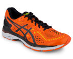 ASICS Men's GEL-Kayano 23 Shoe - Flame Orange/Black/Safety Yellow 2