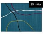 Modern Lines 230x160cm Rug - Blue 1