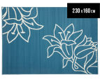 Elegant Flower Outline 230x160cm Rug - Blue 1