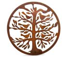 Circular Tree of Life w/ Bird 50cm Metal Laser Cut Wall Art 1