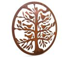 Circular Tree of Life w/ Bird 50cm Metal Laser Cut Wall Art 2