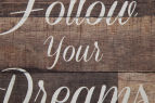 Framed 42x32cm Follow Your Dreams Wall Art - Brown/White 4