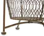 Tall 76cm Rustique 2-Tiered Bowl Stand - Rust 5