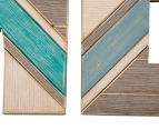 Geometric Style 110x40cm Home 4-Piece Wall Art - Multi 4