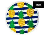 Round Beach 150cm Towel - Pineapple 1