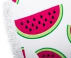 Round 150cm Beach Towel - Melon 3