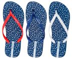 Ipanema Switch Strap Women's Thong - Blue/Red 4