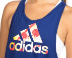 Adidas Women's Summer Logo Tank - Uni Ink 5