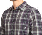 Nixon Men's La Paz Plaid Shirt - Dark Grey 6