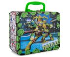 Teenage Mutant Ninja Turtles Lunch Tin w/ 48-Piece Puzzle - Green/Multi 2