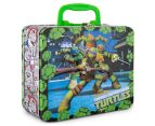 Teenage Mutant Ninja Turtles Lunch Tin w/ 48-Piece Puzzle - Green/Multi 3